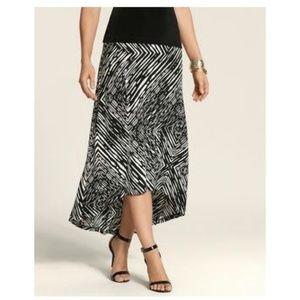 faf7f9363c Chico's Skirts | Chicos Pullon Geometric Maxi Skirt 2 | Poshmark